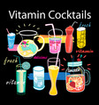 beautiful graphics set vitamin cocktails vector image vector image