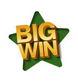big win banner for online casino vector image