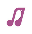 bird song notes logo icon design vector image