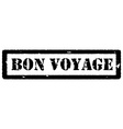 Bon voyage stamp vector image