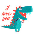 brightly amorous dinosaur enamored vector image vector image