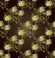 Brown vintage floral seamless pattern vector image vector image