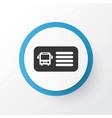 bus ticket icon symbol premium quality isolated vector image vector image