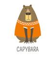 capybara hydrochoerinae family representative vector image
