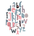 children s font in the creative abstract style vector image
