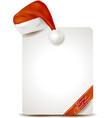 christmas placard with santas hat vector image