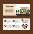 coffee house horizontal flyers vector image