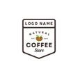 coffee nature logo vintage template shield vector image vector image