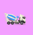 concrete mixer truck transported vector image vector image