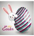 cute rabbit happy easter vector image vector image