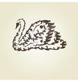 decorative swan vector image