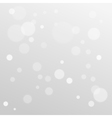 Delicate bokeh gray abstract background winter vector image vector image