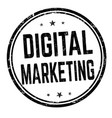 digital marketing sign or stamp vector image