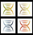 dna genetic sign elements and icons collection vector image vector image