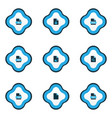 document icons colored set with file epub locked vector image
