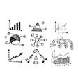 doodle graph icon design vector image vector image