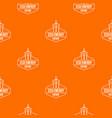 eco energy pattern orange vector image vector image