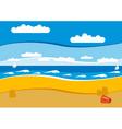 empty beach vector image vector image