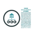 Euro Bank Transactions Rounded Icon with 1000 vector image vector image