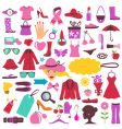 fashion and beauty icons vector image