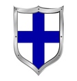Finland flag button vector image