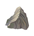 flat icon of high gray mountain with lights vector image vector image