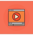 Flat online video icon vector image vector image