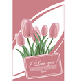floral tulips vector image vector image
