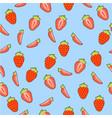 fresh strawberries seamless vector image vector image