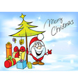 funny christmas design with Santa Claus - vector image vector image