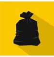 Garbage bag icon flat style