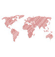 global map mosaic of flag items vector image