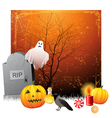 halloween background vector image vector image