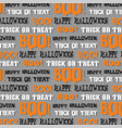 halloween typography pattern on gray vector image vector image