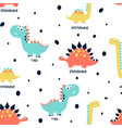 hand drawing print design dinosaur and slogans vector image vector image