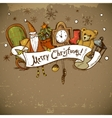 Hand-drawn New Year and Christmas Greeting Card vector image vector image