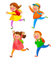 happy school kids vector image