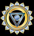 hindu chakra vishuddha medallion vector image vector image