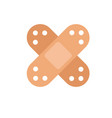 icon with two medical plasters vector image