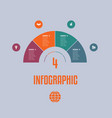 infographic template from colourful parts vector image vector image