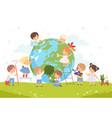 kids help save world children volunteers vector image