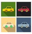 kids toy car in flat style vector image vector image