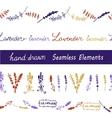 Lavender Seamless elements set vector image