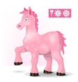 Magic pink horse vector image vector image