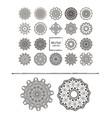 mandalas ornament round set vector image vector image