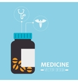 medical bottle pills container vector image vector image
