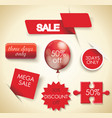 mega sale set sale design elements vector image vector image