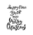 merry christmas and happy new year holiday modern vector image vector image