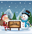 merry christmas cartoon vector image vector image