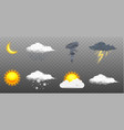 modern realistic weather icons set meteorology vector image